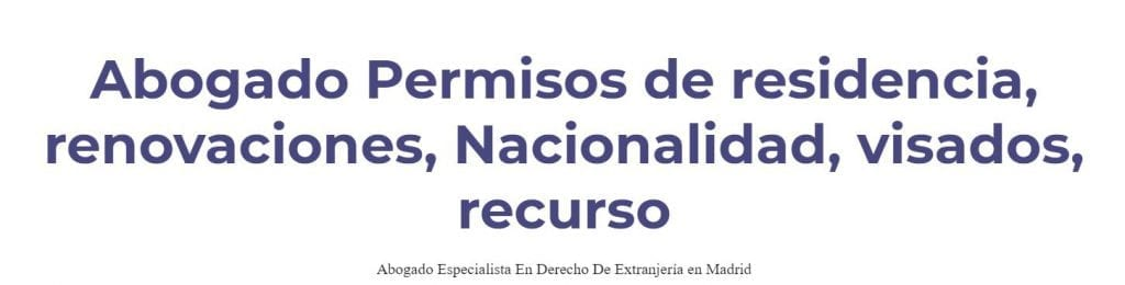 Los Mejores Abogados de Extranjería y Nacionalidad de Madrid LosMejoresDeMadrid ® 2